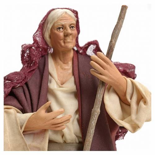 Donna con scopa 18 cm presepe Napoli s4