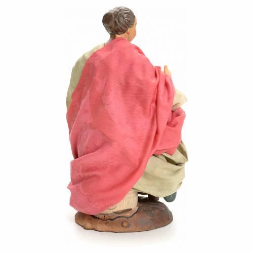 Donna seduta 18 cm presepe Napoletano s3