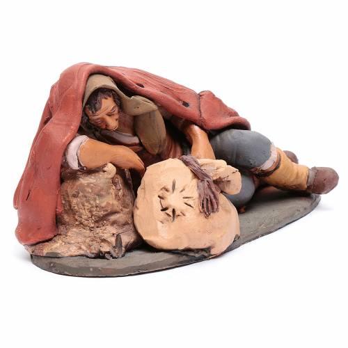 Dormiente 30 cm in terracotta di Deruta s4