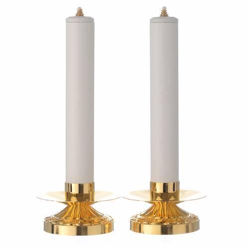 Duo de chandeliers laiton bougie pvc et cartouche s1