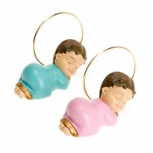 Figury Dzieciątko Jezus: Dzieciątko Jezus z aureolą żywica 6 cm