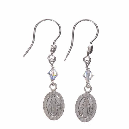 Earrings in 800 silver with Miraculous Medal image s1