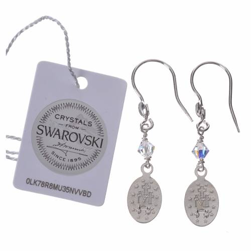 Earrings in 800 silver with Miraculous Medal image s2