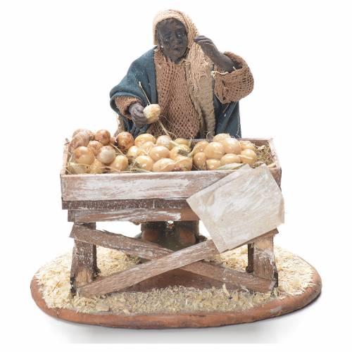 Egg seller with stall, Neapolitan Nativity 10cm s1