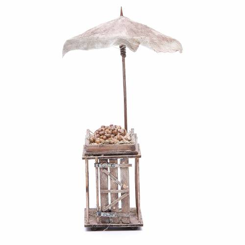 Egg stall with umbrella for Neapolitan Nativity, 24cm s1