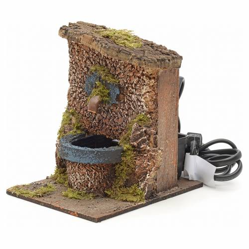 Electric nativity fountain 12x9x12cm s2