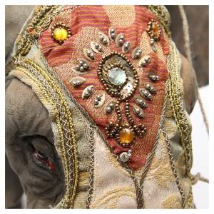 Elefante con Re e servo Presepe Angela Tripi 30 cm s7