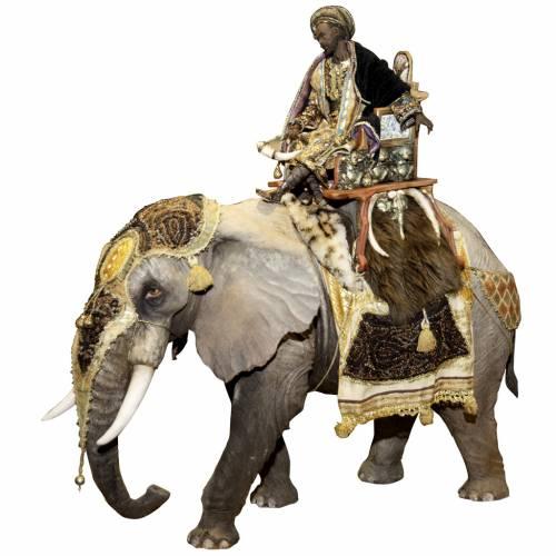 Elefante con Rey Mago del belén Angela Tripi 30 cm s1