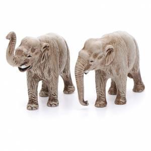 Elefantes surtidos, 2 pdz, para belén de Moranduzzo con estatuas de 3,5 cm s2