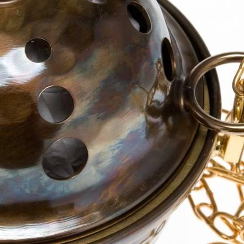 Encensoir et navette repoussés en laiton s2
