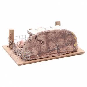 Enclos avec cochons 6x14,5x11 cm pour crèche s3