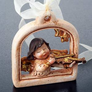 Christbaumschmuck aus Holz und PVC: Engel Weihnachtsdekoration