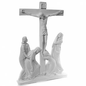 Escena de la crucifixión, mármol sintético s2
