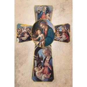 Cuadros, estampas y manuscritos iluminados: Estampa Cruz Botticelli