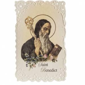 Estampa Saint Benedict con oración (inglés) s1