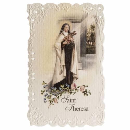 Estampa Saint Theresa con oración (Inglés) s1