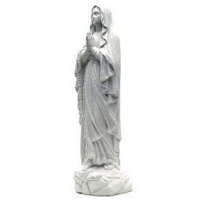 Estatua de la Virgen de Lourdes 50cm mármol blanco s2