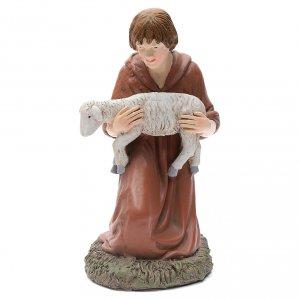 Figuras del Belén: Estatua pastor de rodillas Martino Landi para belén 50 cm