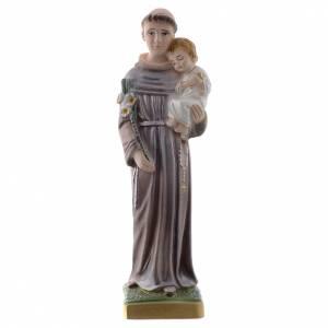 Imágenes de yeso: Estatua San Antonio de Padua 20 cm. yeso nacarado