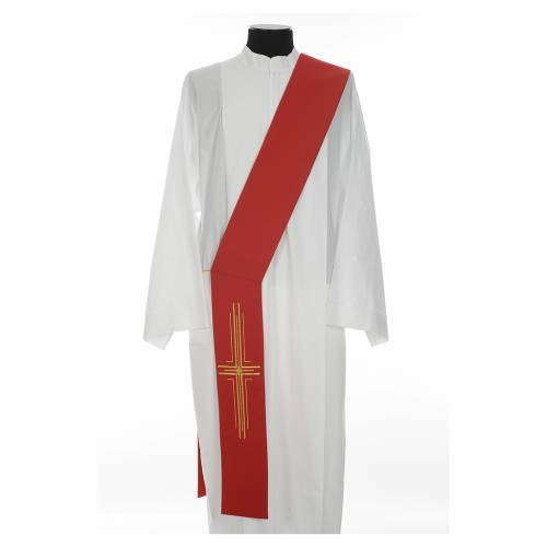 Etole diaconale croix polyester s3