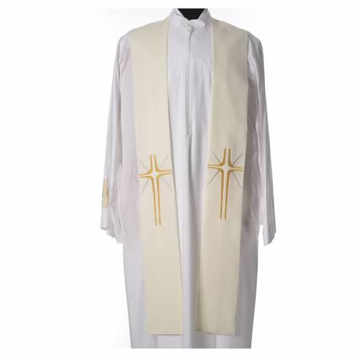 Etole liturgique 100% polyester croix et rayons s3