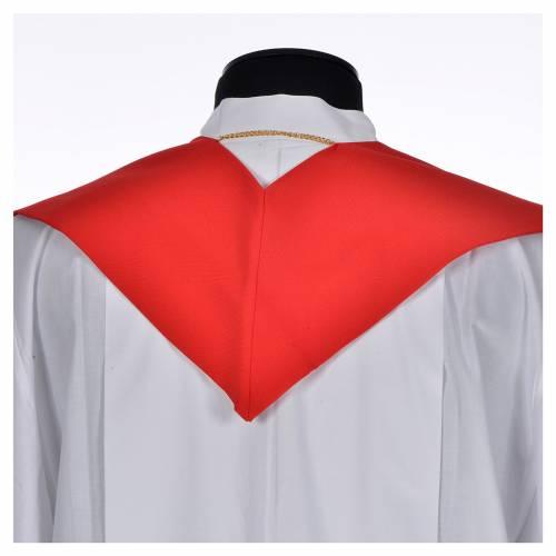 Etole liturgique 100% polyester symbole Chi-Rho stylisé s3