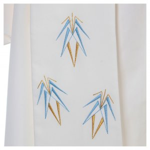 Etole liturgique 100% polyester symbole Mariale s4