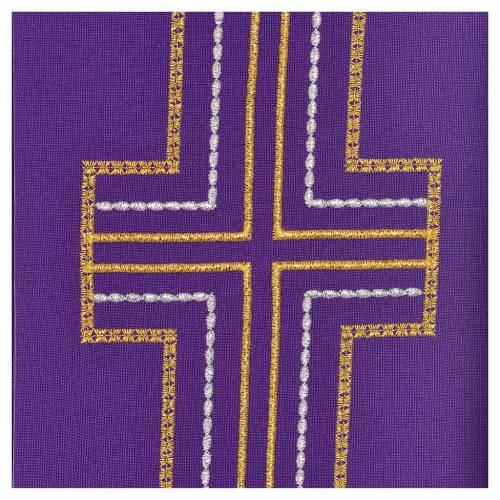 Etole pour diacre 100% polyester croix s3