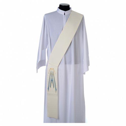 Etole pour diacre 100% polyester symbole marial s1