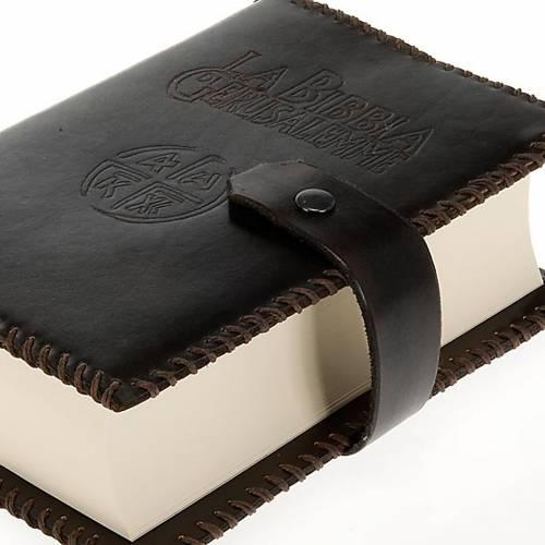 Etui pour Bible Jérusalem cuir marron foncé s2