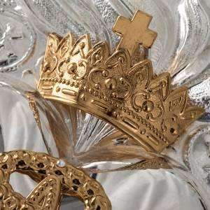 Ex-voto en coeur couronne 3 tours filigrane 34x50 cm s12