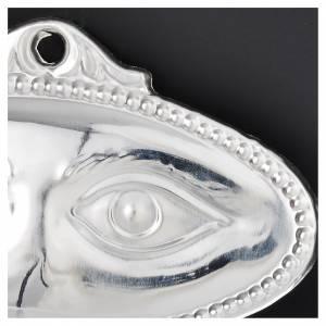 Ex voto occhi lisci argento 925 o metallo 8,5x4,5 cm s2