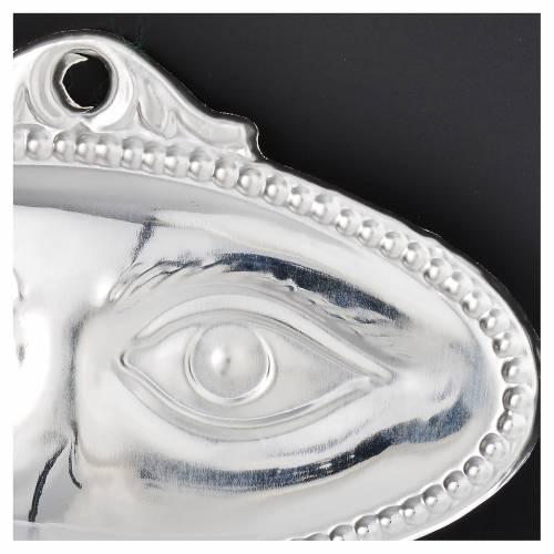 Ex-voto yeux lisses argent 925 ou métal 8.5x4.5 cm s2