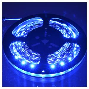Christmas lights: Fairy lights 5m strip with 300 blue LED for indoor use with adhesive