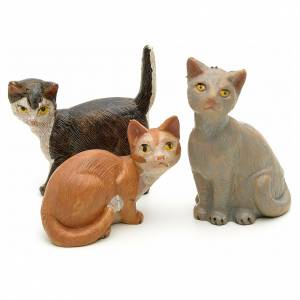 Famiglia di gatti cm 19 Fontanini s2