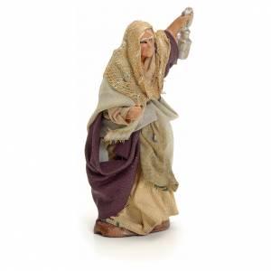 Femme âgée lanterne crèche Napolitaine 8 cm s2