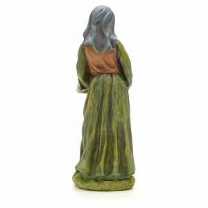Femme avec panier de fruits crèche 20 cm résine s3