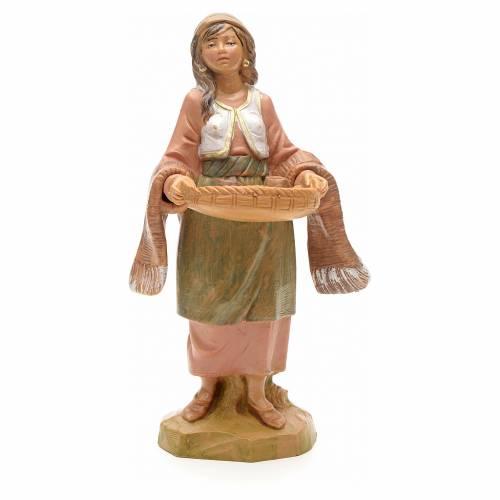 Femme avec tasses crèche 12 cm Fontanini s3