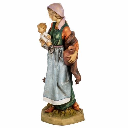 Femme et enfant crèche Fontanini 65 cm résine s4
