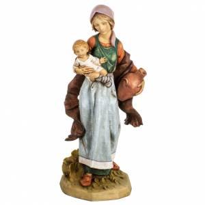 Femme et enfant crèche Fontanini 65 cm résine s1