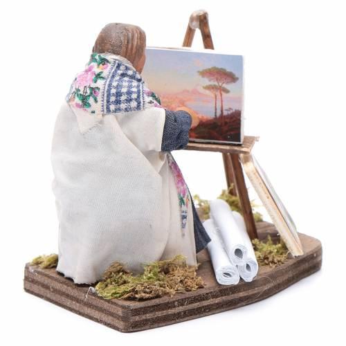 Femme peintre 10 cm crèche Naples s4