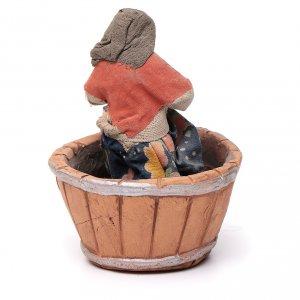 Femme qui presse le raisin crèche Napolitaine 10 cm s4