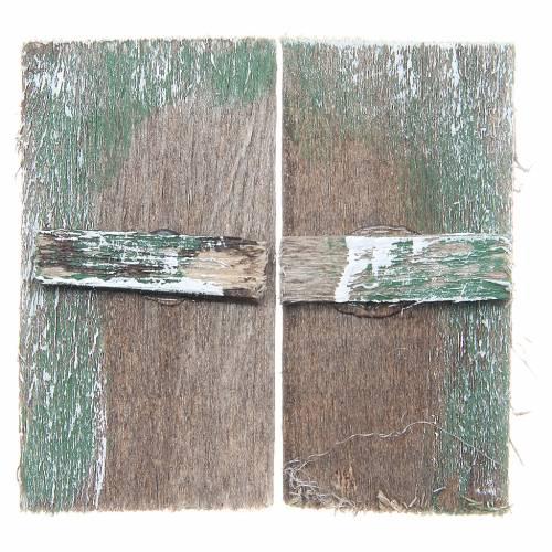 Fenêtre en bois 5,5x3 cm rectangulaire set 2 pcs s1