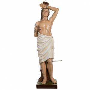 Fiberglas Statuen: Fiberglas Statue Heiliger Sebastian 125 cm