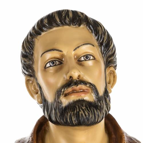 Figura Francisco de Asís 100 cm. resina Fontanini s2