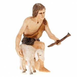 Figurines for Moranduzzo nativities, shepherd with fife and shee s1
