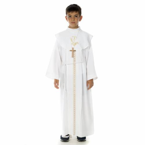 First Communion alb, for boy, chalice s1