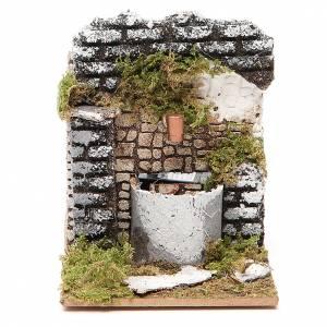 Fontaine crèche bois et liège 12x15x10 cm modèles assortis s1