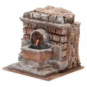 Fontaine crèche électrique avec briques 18x16x16 cm s2