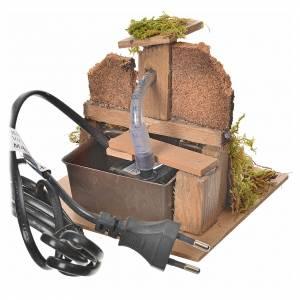 Fontaine en miniature bois et liège 13x13x13 s4